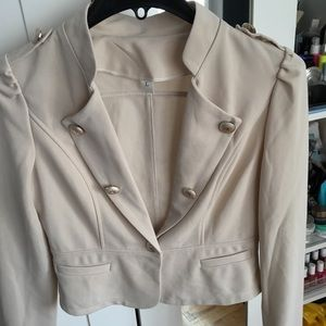 Beige vest/jacket with gold buttons